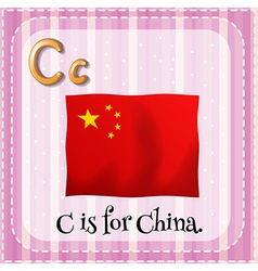 A letter c for china vector