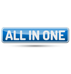 All in one - abstract beautiful button with text vector