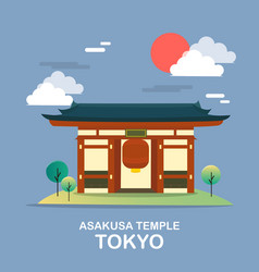 asakusa temple ancient place in tokyo desig vector image vector image