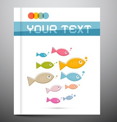 Brochure Layout - Template with Fish on Cover vector image vector image