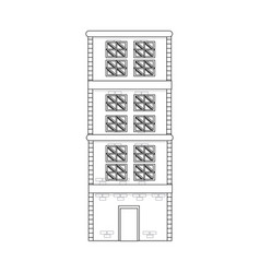 Building home brick construction architecture vector