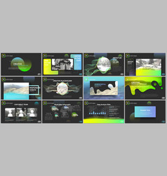 clean minimal presentation templates vector image