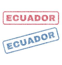 Ecuador textile stamps vector