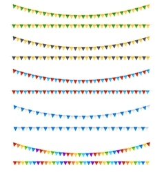 Festive flags elements vector image vector image
