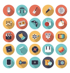 Flat design icons for leisure and entertainment vector image vector image