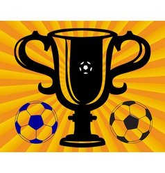 football cup vector image vector image