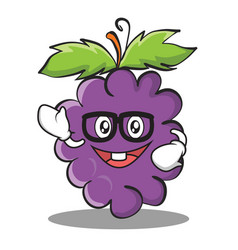 Geek grape character cartoon collection vector