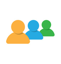 group of people icon teamwork or crowd vector image vector image