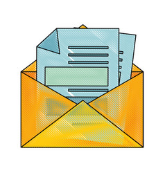 Letter on mail vector