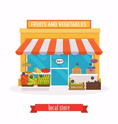Local market fruit and vegetables farmers market vector