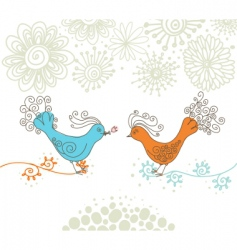 lovely birds vector image vector image