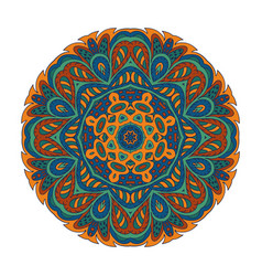Mandala zentangl doodle drawing round ornament vector