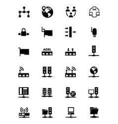Networking icons 2 vector