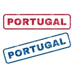 Portugal rubber stamps vector