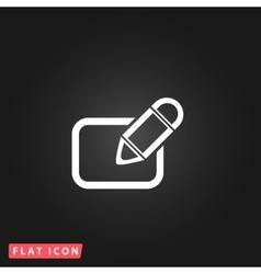 Registration flat icon vector