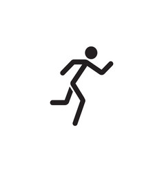 running man solid icon fast and fitness sport vector image
