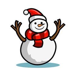 Snow doll vector