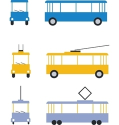 transport set color 01 vector image