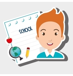 Student school sheet notebook vector