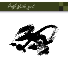 abstract black ink hand drawing brush strokes spot vector image