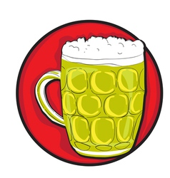 Beer pint clip art vector