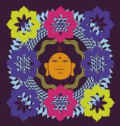 Lotus Buddah poster vector image