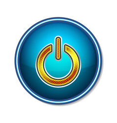 Power button symbol icon technology vector