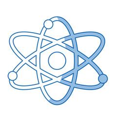 Atom molecule particle structure biology shadow vector