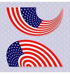Set of stylish american flags Independence day des vector image