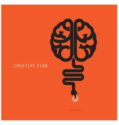 Creative brain concept design for poster vector