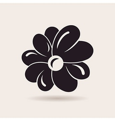 Flower logo sign emblem vector image