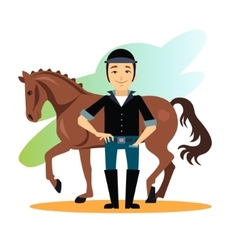 Jockey design concept set vector
