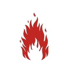Simple fire icon vector image