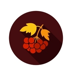 Rowan branch flat icon with long shadow vector