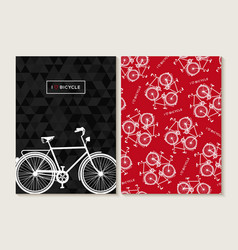 Bike concept retro set pattern poster bicycle vector