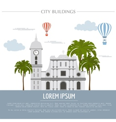 City buildings graphic template venezuela vector