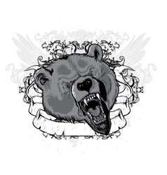 vintage t-shirt design with animal vector image