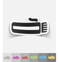 Realistic design element hairclipper vector