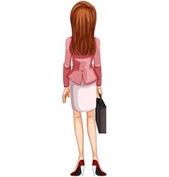 A backview of a woman vector