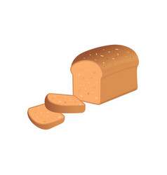 A bread slices on white backgroun vector