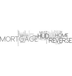 A hud reverse mortage for retirement text word vector