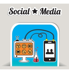 Abstract concept of social media with bookmark vector image vector image