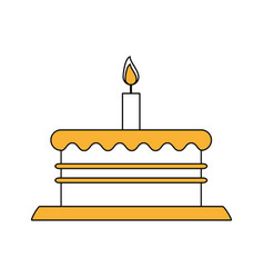 Birthday tower pink cake vector