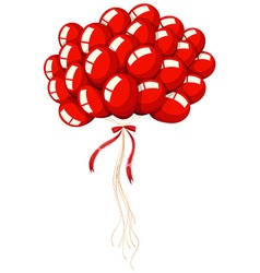 Bunch of red balloons vector image vector image