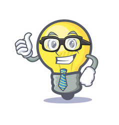 businessman light bulb character cartoon vector image vector image