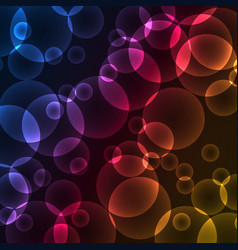 Circles bokeh with colorful abstract background vector