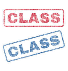 Class textile stamps vector