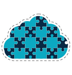 Cloud puzzle solution image vector