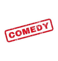 Comedy text rubber stamp vector
