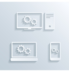 Computers icons vector